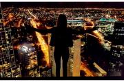 Australia - Melbourne widok na nocne miasto