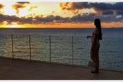 Wyspy Kanaryjskie - Teneryfa. Piękny zachód słońca.
