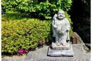 Park w Japonii - Tokio, figurka buddy