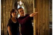 Katedra w Gloucester - Atrakcje zachodniej Anglii. Słynne krużganki znane z filmów z Harrym Potterem. Bogumiła Mazurkiewicz i Ola Mazurkiewicz.