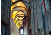 Katedra w Gloucester - Atrakcje zachodniej Anglii. Nawa główna katedry