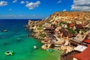 Wioska marynarza Popeye na Malcie - Popeye Village w zatoce Anchor Bay