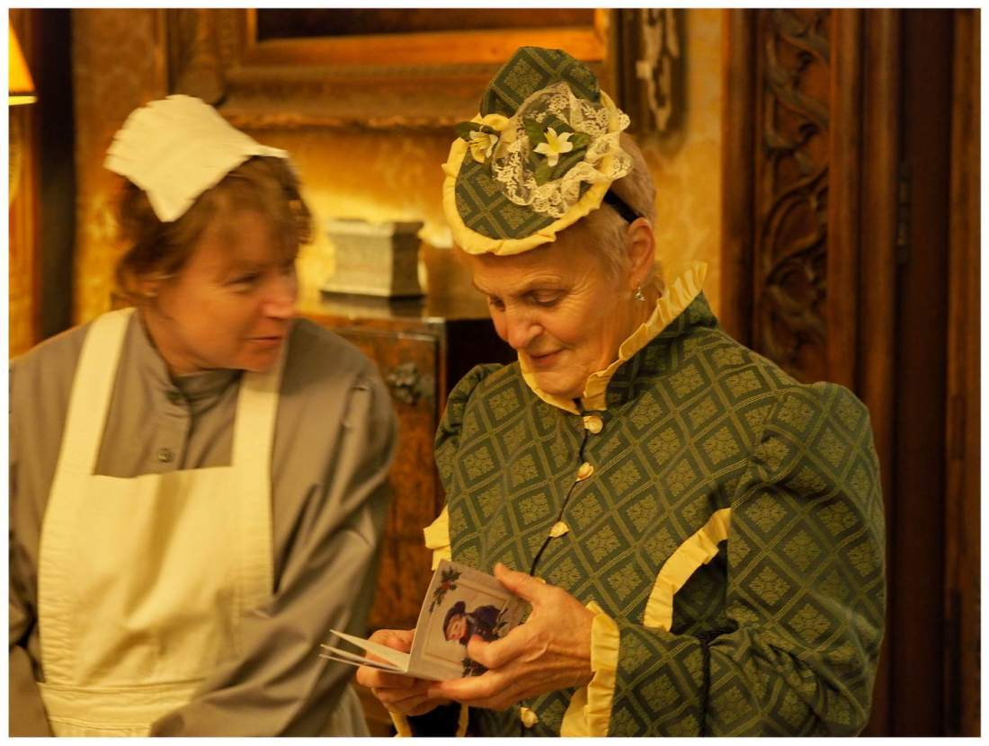 Święta w Tyntesfield domu należącym do National Trust - Anglia. Tradycyjne angielskie święta.
