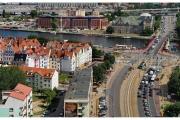Szczecin - Bazylika świętego Jakuba - Widok z tarasu obserwacyjnego na wieży bazyliki