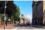 Szczecin - Wały Chrobrego - Widok na jedną z bram