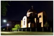 Szczecin - Cerkiew pod wezwaniem św. Mikołaja nocą