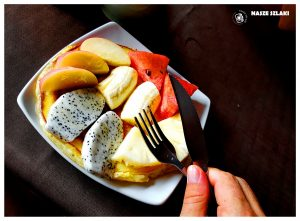 Owocowe śniadanie w Tajlandii, naleśniki z owocami